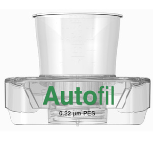 Autofil 15mL Sterile 0.2um High Flow PES Vacuum Filter Funnel Only, case/48