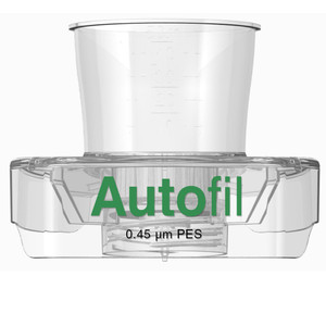 Autofil® 15mL Sterile 0.45um High Flow PES Vacuum Filter Funnel Only, case/48