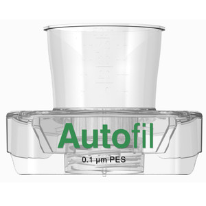Autofil 15mL Sterile 0.1um High Flow PES Vacuum Filter Funnel Only, case/48