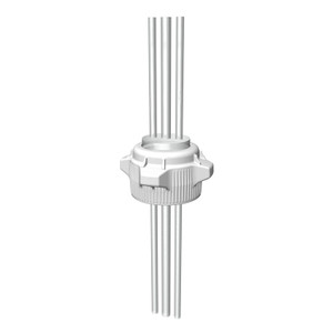 VersaCap 205-5002-RLS Polypropylene Adapter 1//2 Hose Barb x 2 and Vent No Quick Connector 80mm Cap Size