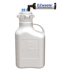 EZWaste® System, 5L, HDPE, 83B VersaCap®, (6) 1/8'' OD Fittings, Carbon Filter