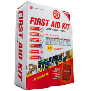 Soft Sided First Aid Kit, 202 Pieces, case/16