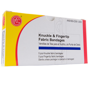 Knuckle, Finger Tip Bandage, 5 pcs/5pcs per box First Aid Kit Refill, case/100