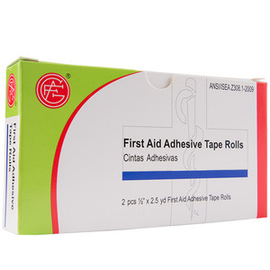 "Adhesive Tape, 0.5"" x 2.5 yds First Aid Kit Refill, case/100"