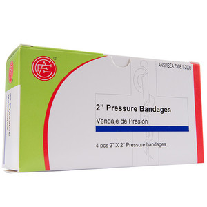 "Pressure Bandage, 2"" x 2""First Aid Kit Refill, case/50"