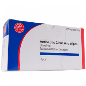 Antiseptic Wipes, First Aid Kit Refill, 10 per box, case/100