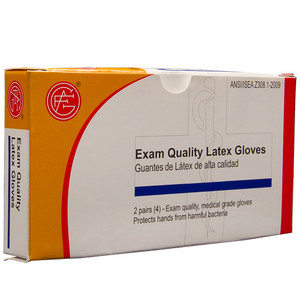 Latex Gloves, 2 pair per box First Aid Kit Refill, case/100