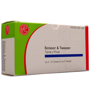 Forceps and Scissors, 1 of each per box First Aid Kit Refill, case/50