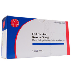 "Foil Blanket, 38"" x 60""First Aid Kit Refill, case/50"