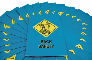 Safety Training: Back Safety Employee Booklet, pack/15