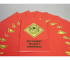 Safety Training: DOT HAZMAT Security Awareness Employee Booklet, pack/15