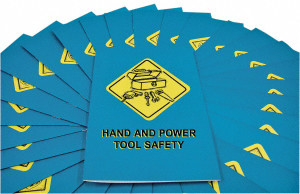 Safety Training: Hand & Power Tool Safety Employee Booklet, pack/15