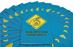 Safety Training: Hand, Wrist & Finger Safety Employee Booklet, pack/15