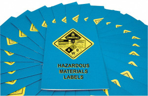 Safety Training: Hazardous Materials Labels Employee Booklet, pack/15