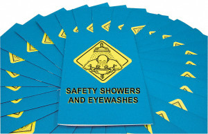 Safety Training: Safety Showers & Eye Washes Employee Booklet, pack/15