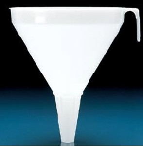 Large Funnel, PP, Diameter 200mm, Length 200mm, Stem Diameter 22mm, case/6