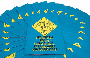 Safety Training: Sexual Harassment for Managers, Employee Booklet, pack/15