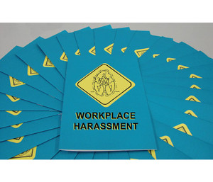 Safety Training: Workplace Harassment Employee Booklet, pack/15