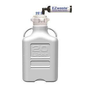 EZWaste® System, 20L, HDPE, 83B VersaCap®, (6) 1/8'' OD Fittings, Carbon Filter