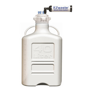 EZWaste XL System, 40L, HDPE, 120mm Cap, (6) 1/8 OD Tubing & Filter