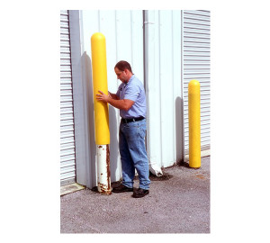 "Bollard Post Cover Sleeve for 8"" Posts, UV Resistant Poly, Tool-Free Installation"