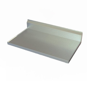 Flat top version shown, without the spill-catching V-edge. Order from catalog series 2TCBV rather than 1TCBV to receive the flat-top version of this counter top.