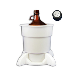 Port Cap System, 4L Glass Bottle, 38mm Port Cap, Secondary Container