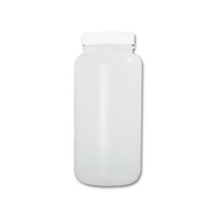 Certified Clean 32 oz Wide Mouth Sample Bottles with Screw Caps, HDPE, Bulk, case/72
