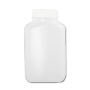 Certified Clean 16 oz Wide Mouth Sample Bottles with Screw Caps, HDPE, Preserved in 4mL Nitric Acid, case/24