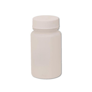 Certified Clean 4 oz Wide Mouth Sample Bottles with Screw Caps, HDPE, case/48