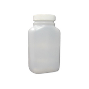 Certified Clean 8 oz Wide Mouth Sample Bottles with Screw Caps, Preserved, HDPE, 1mL, Sulfuric Acid, case/24