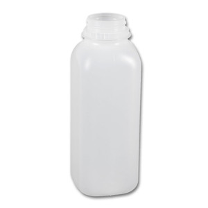 16 oz (500mL) Plastic Dairy Jug/ Juice Containers, Tall Square, HDPE, case/135