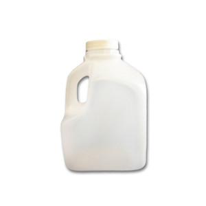 1 liter (32 oz) Plastic Juice Jugs, Squat Square Bottles, HDPE, case/108