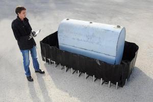 UltraTech 275 Gal Tank Containment Sump, Flexible Model, Choose Drain