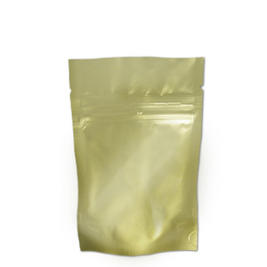 "Resealable Heat-Seal Bags, 4.5 mil Stand Up Gold-Foil Zipper Bags, 4 x 6"", case/500"