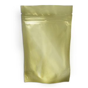 "Resealable Heat-Seal Bags, 4.5 mil Stand Up Gold-Foil Zipper Bags, 6 x 10"", case/500"