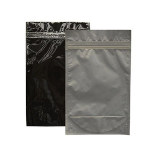 "Resealable Heat-Seal Bags, 4.5 mil Stand Up Black-Foil Zipper Bags, 6 x 10"", case/500"