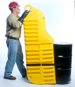 Drum Dolly Dispenser Truck and Spill Station, Polyethylene