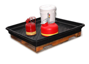 "Large Plastic Utility Spill Tray, 40"" x 48"""