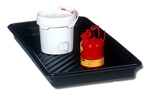 "Large Plastic Utility Spill Tray, 30"" x 48"""