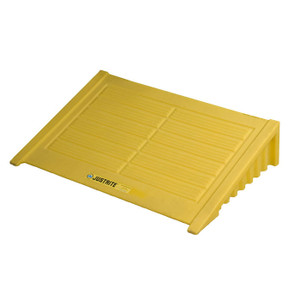 Ramp For 4 Drum Square EcoPolyBlend Spill Control Pallet, Polyethylene, Yellow