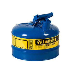 Justrite® Type I Steel Safety Can For Oil, 2.5 Gallon, Blue