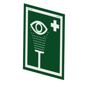 Justrite® Universal Eye/Face Wash Sign For Wall Mounting