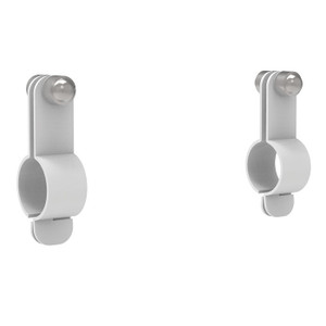 Justrite® Replacement Brackets For Universal Pictogram Signs, Showers Without Insulation