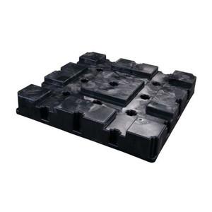 Eagle® 4 Drum Plastic Pallet, With Drain, Black