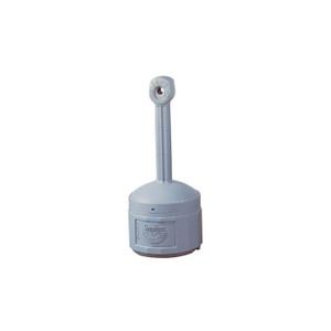 Justrite® Original Smoker's Ceasefire® Outdoor Ashtray, 4 Gallon, Polyethylene, Pewter Gray