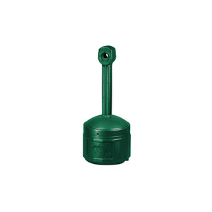 Justrite® Original Smoker's Ceasefire® Outdoor Ashtray, 4 Gallon, Polyethylene, Forest Green