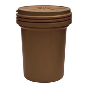 Eagle® 30 Gallon, Screw-On Lid, Lab Pack Plastic Barrel Drum, Brown