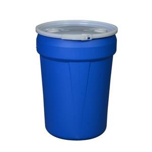 Eagle® 30 Gallon, Plastic Lever-Lock, Lab Pack Open Head Plastic Barrel Drum, Blue