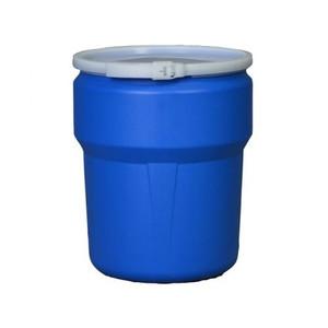Eagle® 10 Gallon, Plastic Lever-Lock, Lab Pack Plastic Barrel Drum, Blue